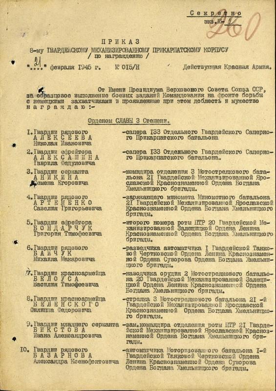 Список награждённых, их характеристики и др материалы Сиваш - моя фамилия.